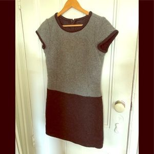 Anna Sui size 2 two-tone gray wool dress
